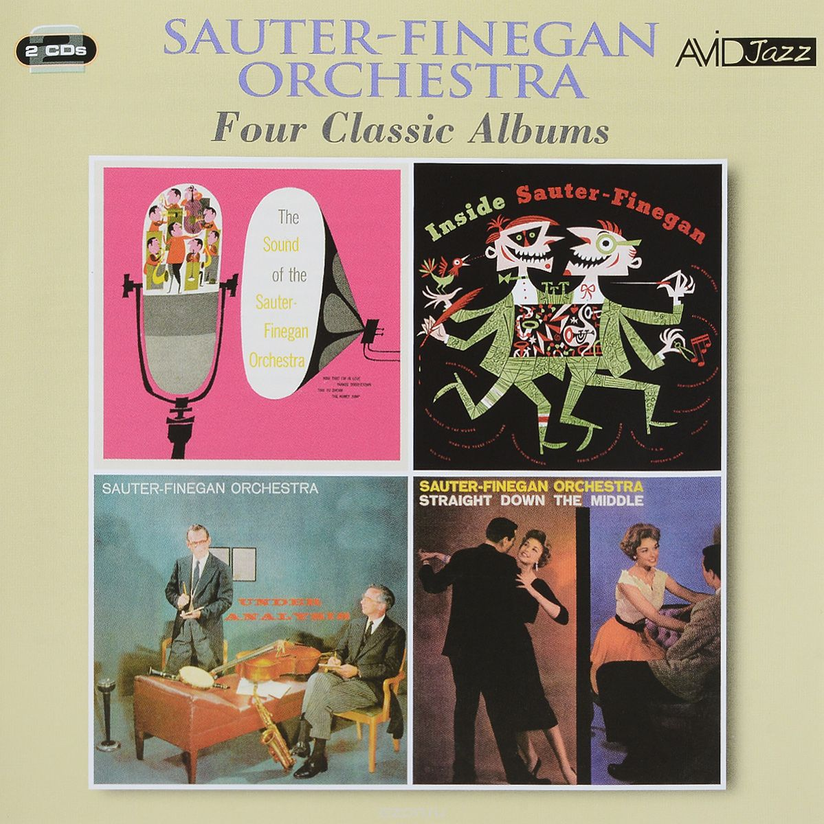 Avid Jazz. Sauter-Finegan Orchestra. Four Classic Albums (2 CD)