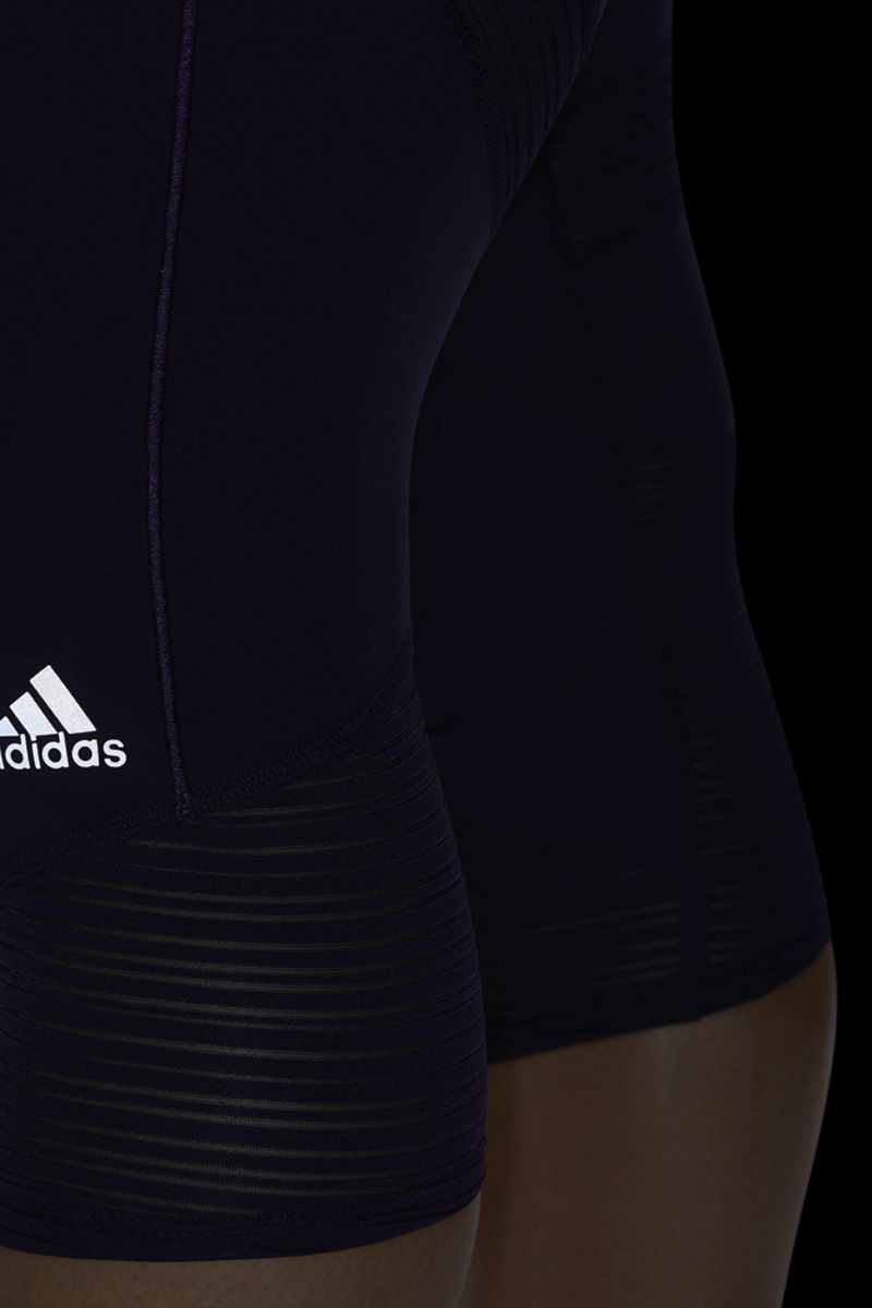 Капри женские Adidas How We Do 3/4 W, цвет: фиолетовый. DQ1941. Размер XXS (38)